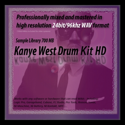 Product picture Kanye West Drum Kit Samples HD 24bit Sounds