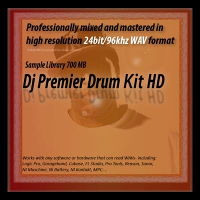 Product picture Dj Premier Drum Kit Samples HD 24bit Sounds