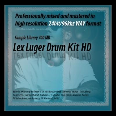 Product picture Lex Luger Drum Kit Samples HD 24bit Sounds