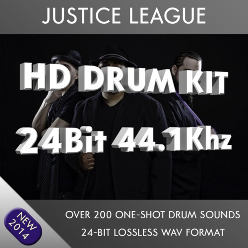 Product picture Justice League HD Drum Kit Samples 24bit 44.1khz