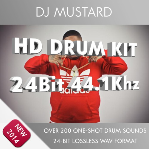 Product picture DJ Mustard Drum Kit Samples 24bit 44.1khz